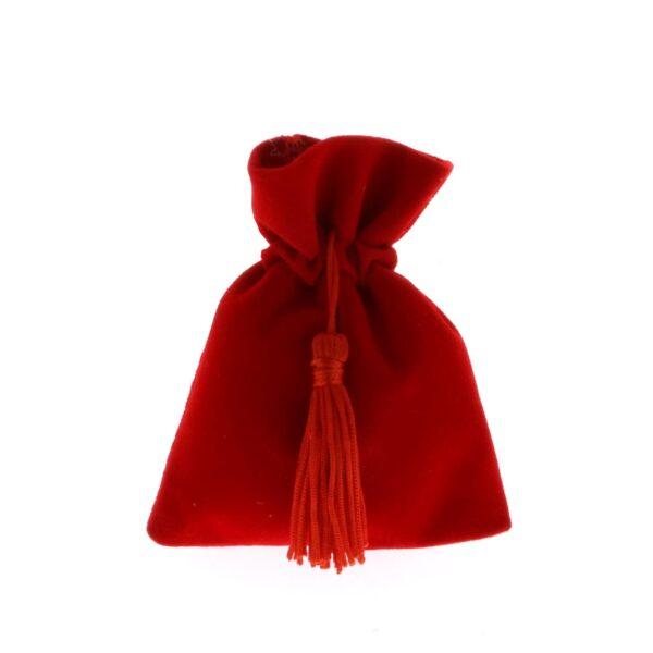 Sacchetto Laurea in velluto rosso con nappina