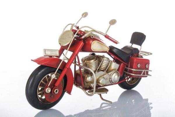 Harley in metallo colore rossa lunghezza 28 cm.