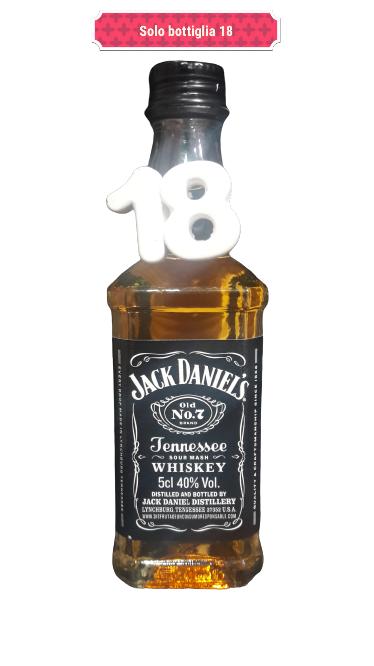 Bomboniera originale 18 anni jack Daniel's da 5 cl