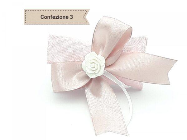 Bomboniera nascita charms in metallo smaltato rosa