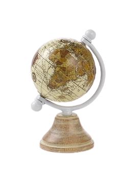 Bomboniera tema viaggio mappamondo Globo terrestre colore avorio