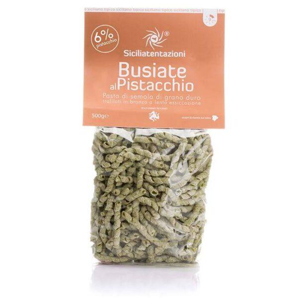 bomboniera gastronomica Busiate al Pistacchio 6%. 500 gr