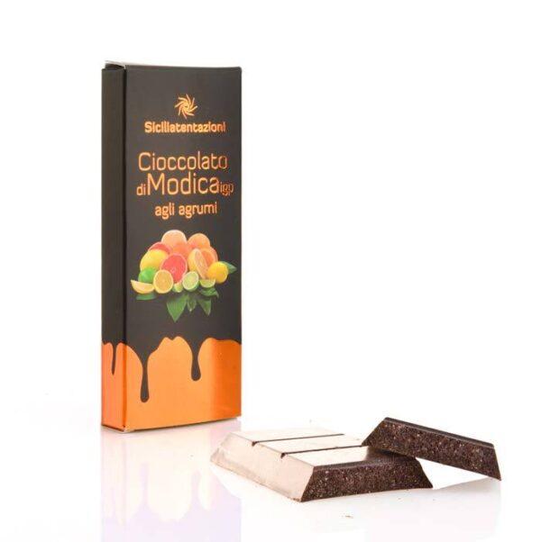 bomboniera gastronomica Cioccolato di Modica IGP agli agrumi misti 100 gr.
