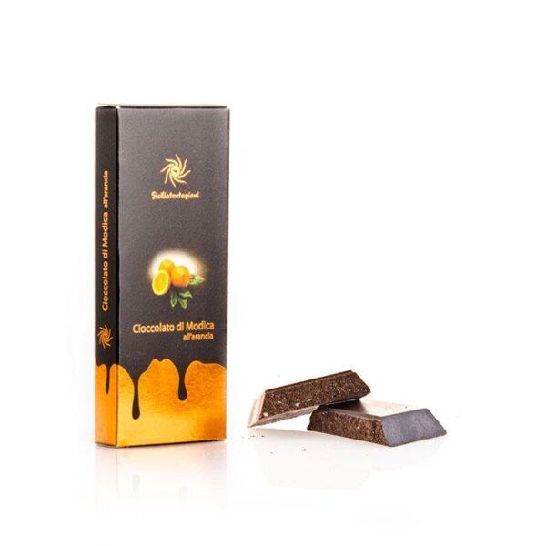 bomboniera gastronomica Cioccolato di Modica IGP all'arancia. 100 gr.