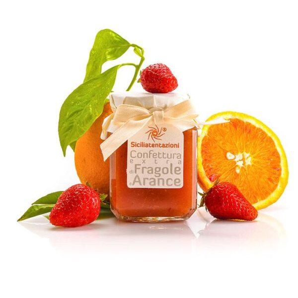 bomboniera gastronomica marmellata arance e fragole 240 gr.