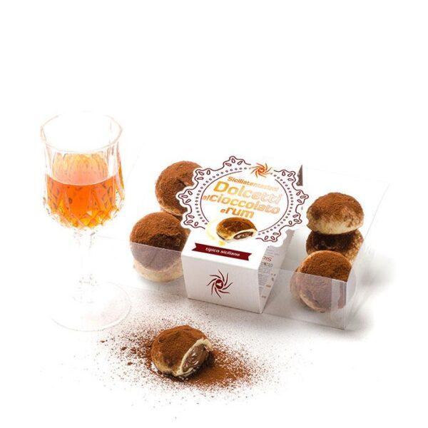 bomboniera gastronomica Dolcetti al cioccolato di modica e rum. 200 gr.
