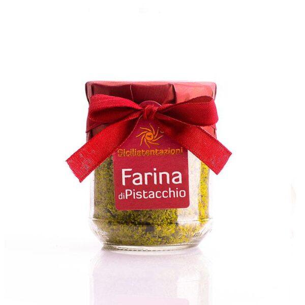 Bomboniera gastronomica farina di pistacchio in barattolo 100 gr.