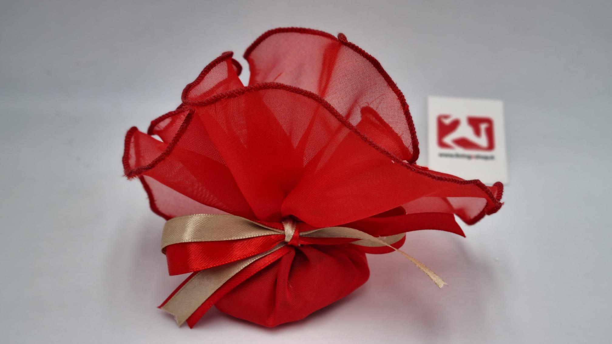 Sacchetto Laurea rotondo in georgette rosso