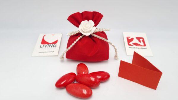 Sacchetto Laurea mini in taffetà rosso