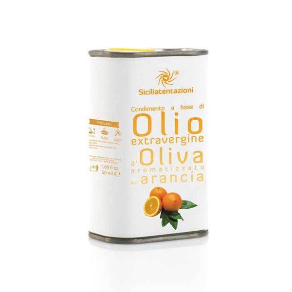 bomboniera gastronomica olio aromatizzato all'arancia in latta 250 ml