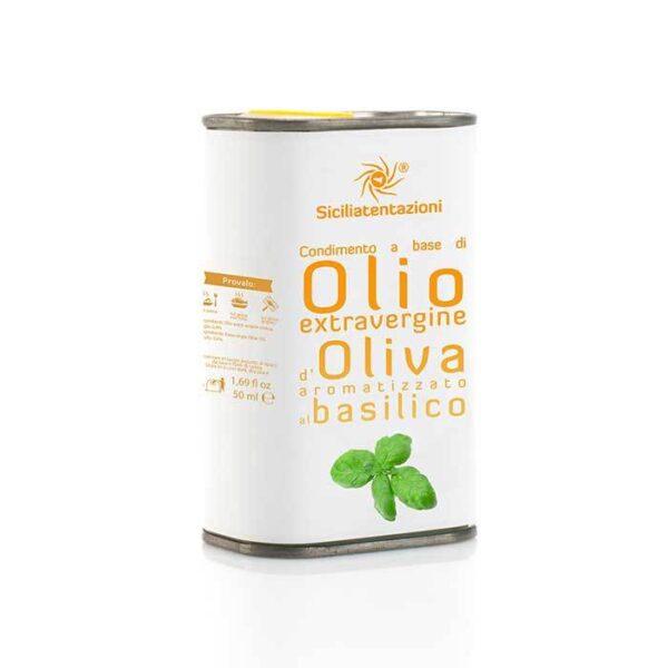 bomboniera gastronomica olio aromatizzato al basilico in latta 250 ml