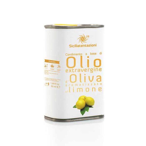 bomboniera gastronomica olio aromatizzato al limone in latta 250 ml