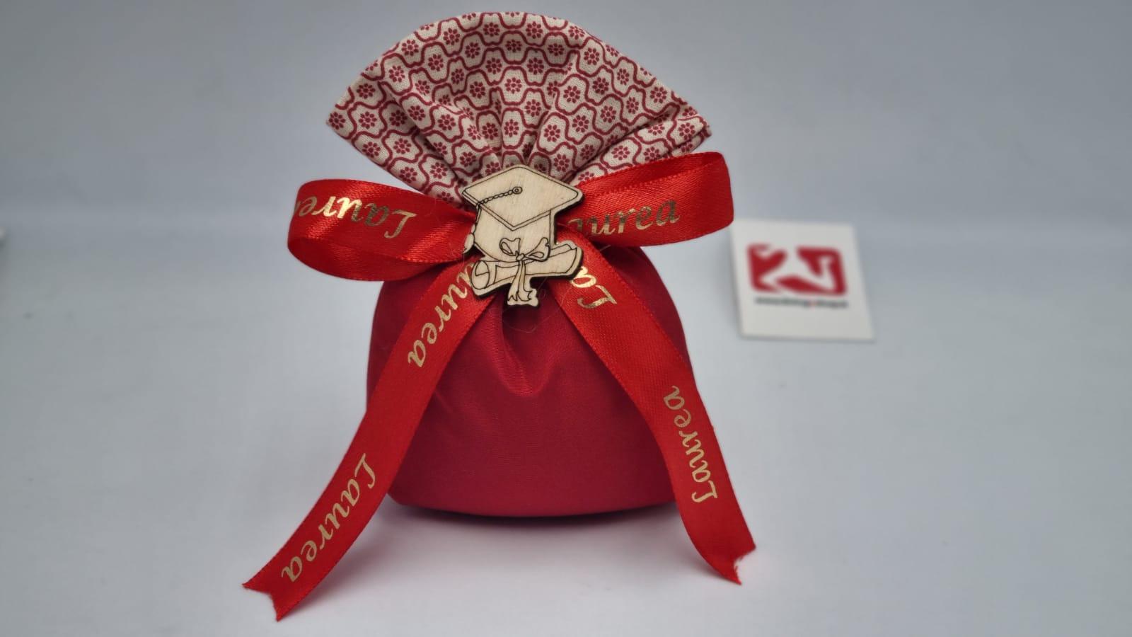 Sacchetto Laurea in taffetà rosso