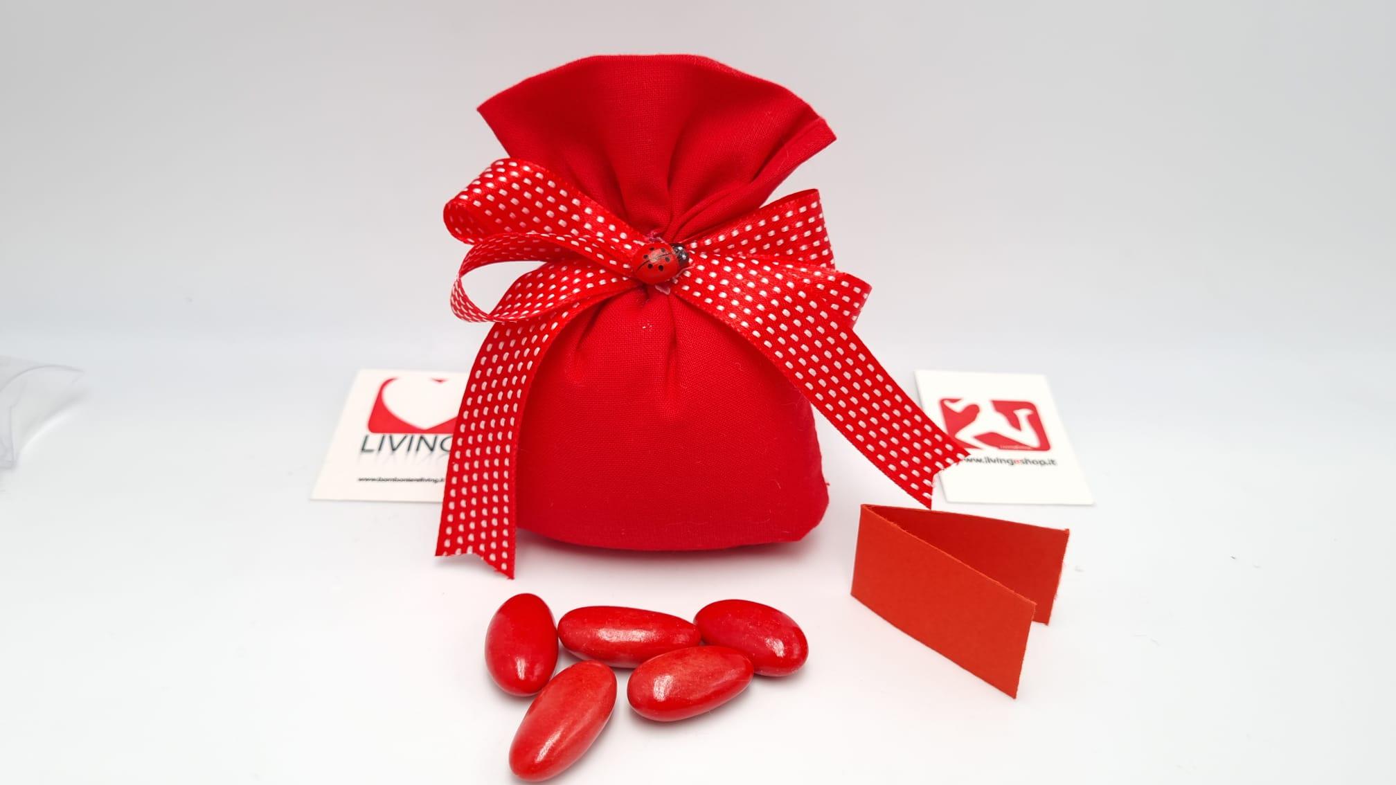 Sacchetto Laurea in tessuto cotone rosso