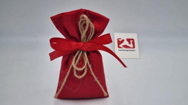 Sacchetto Laurea portaconfetti in taffetà rosso