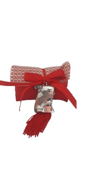 sacchetto portaconfetti laurea pergamena in medicina