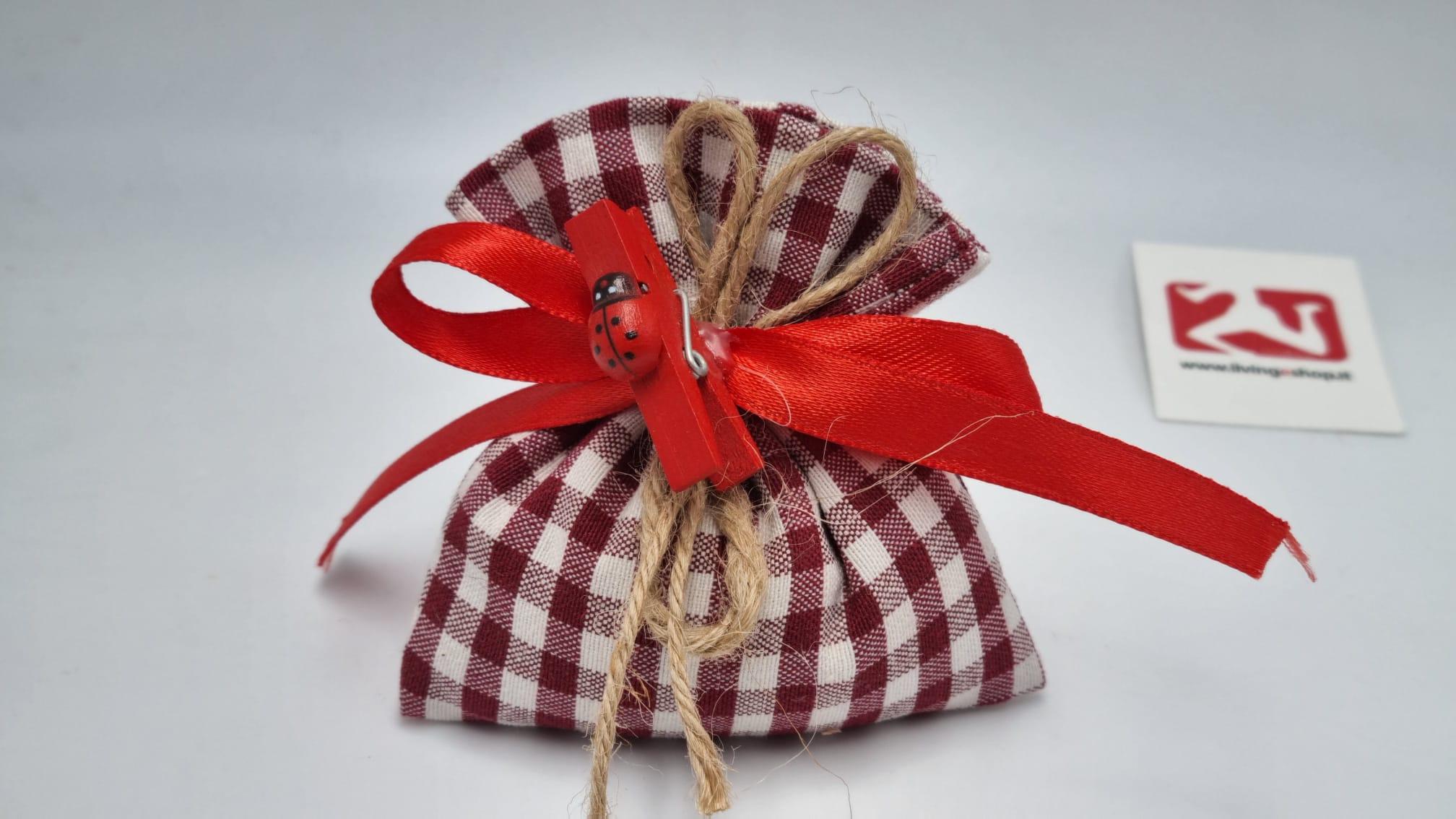 Sacchetto Laurea scozzese rosso