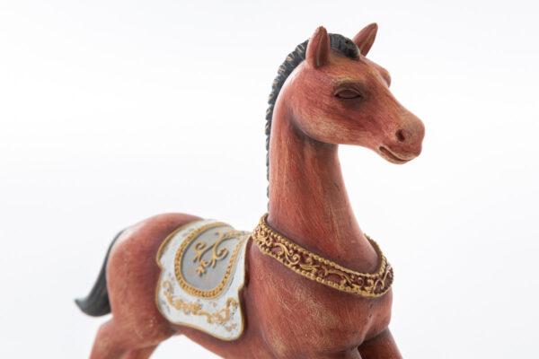 Cavallo a dondolo in resina shabby
