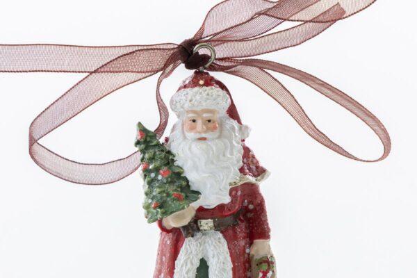 Appendino Babbo Natale con vestito rosso