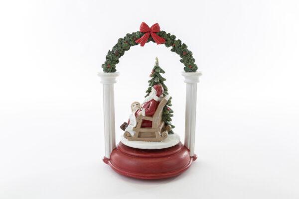 Carillon Babbo Natale in resina