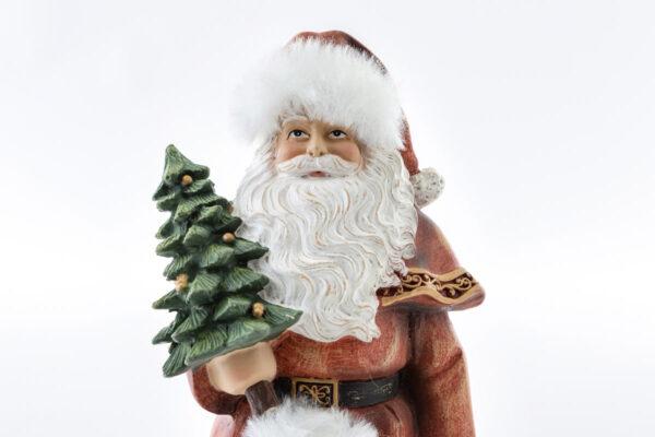 Babbo Natale in resina shabby