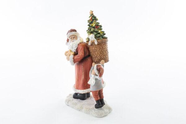 Babbo Natale con luci Shabby