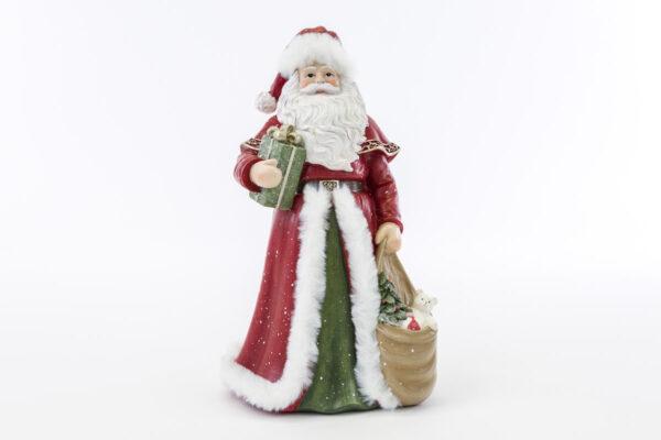 Babbo Natale in resina rosso