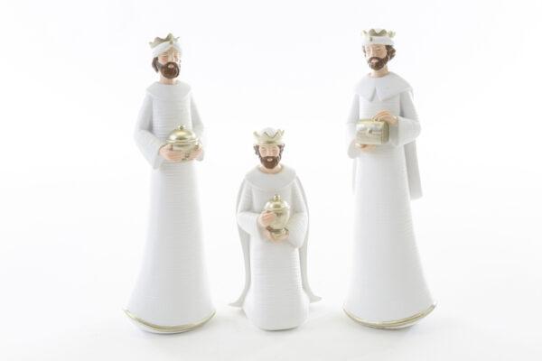 Natività set da 8 pezzi in resina bianca