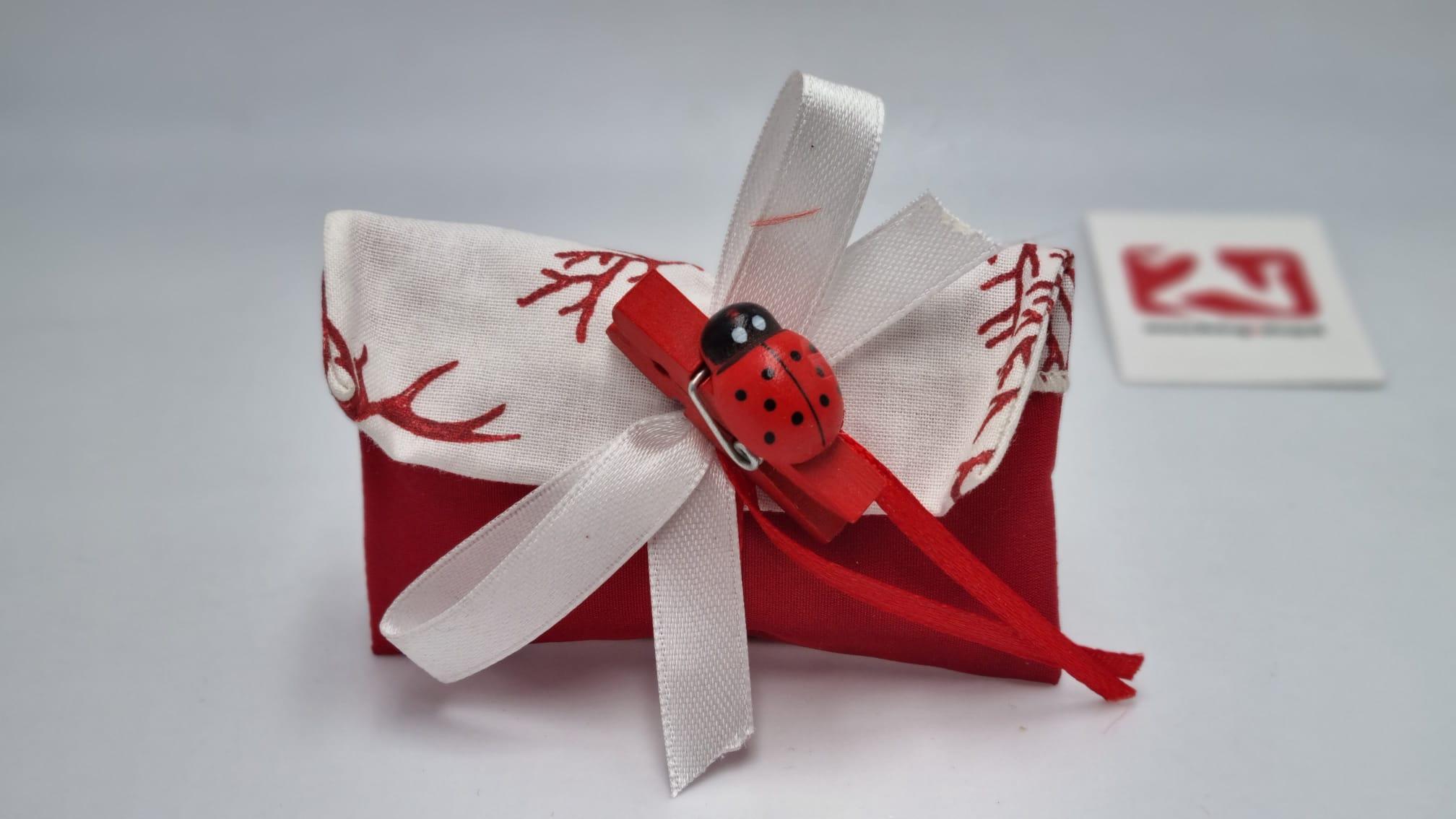 Sacchetto Laurea bustina corallo rosso