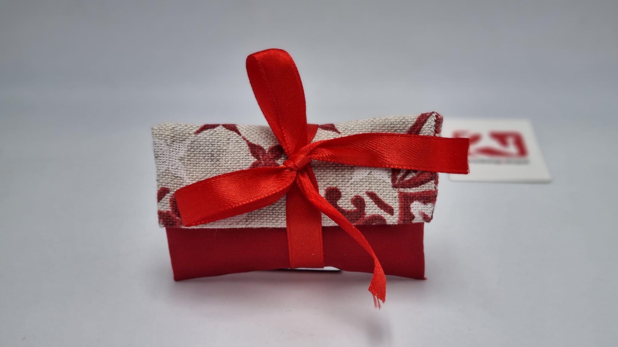 Sacchetto Laurea bustina in tessuto rosso